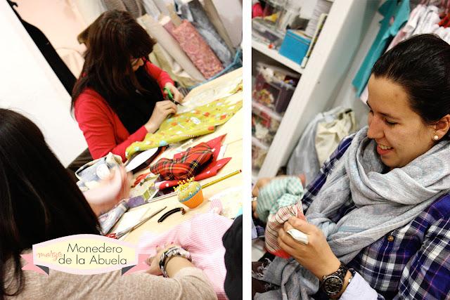 Taller monográfico Monedero de la Abuela en Sweet sixteen craft store Madrid
