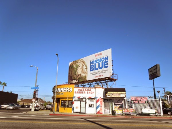 Mission Blue billboard