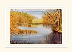 Grey Towers from Poole Lake greeting card