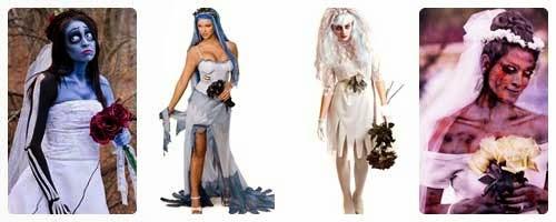 Disfraz de novia muerta para Halloween collage