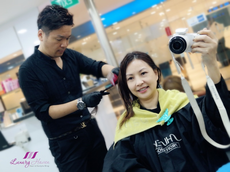 celebrity influencer reviews japanese hair salon soft rebonding