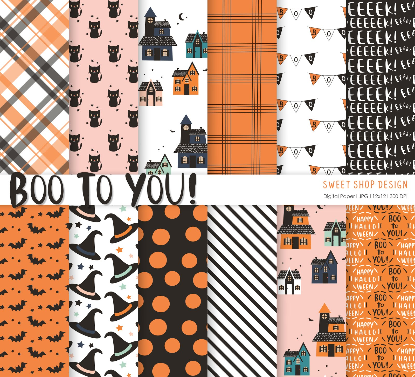 Digital Paper Boo To You