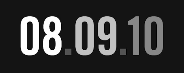 August 9 2010, Sequential Date Day: border=