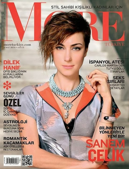 Sanem Çelik Photos from More Turkey Magazine Cover February 2014 HQ Scans