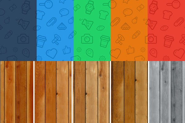 Iconic wood patterns: free web design resources