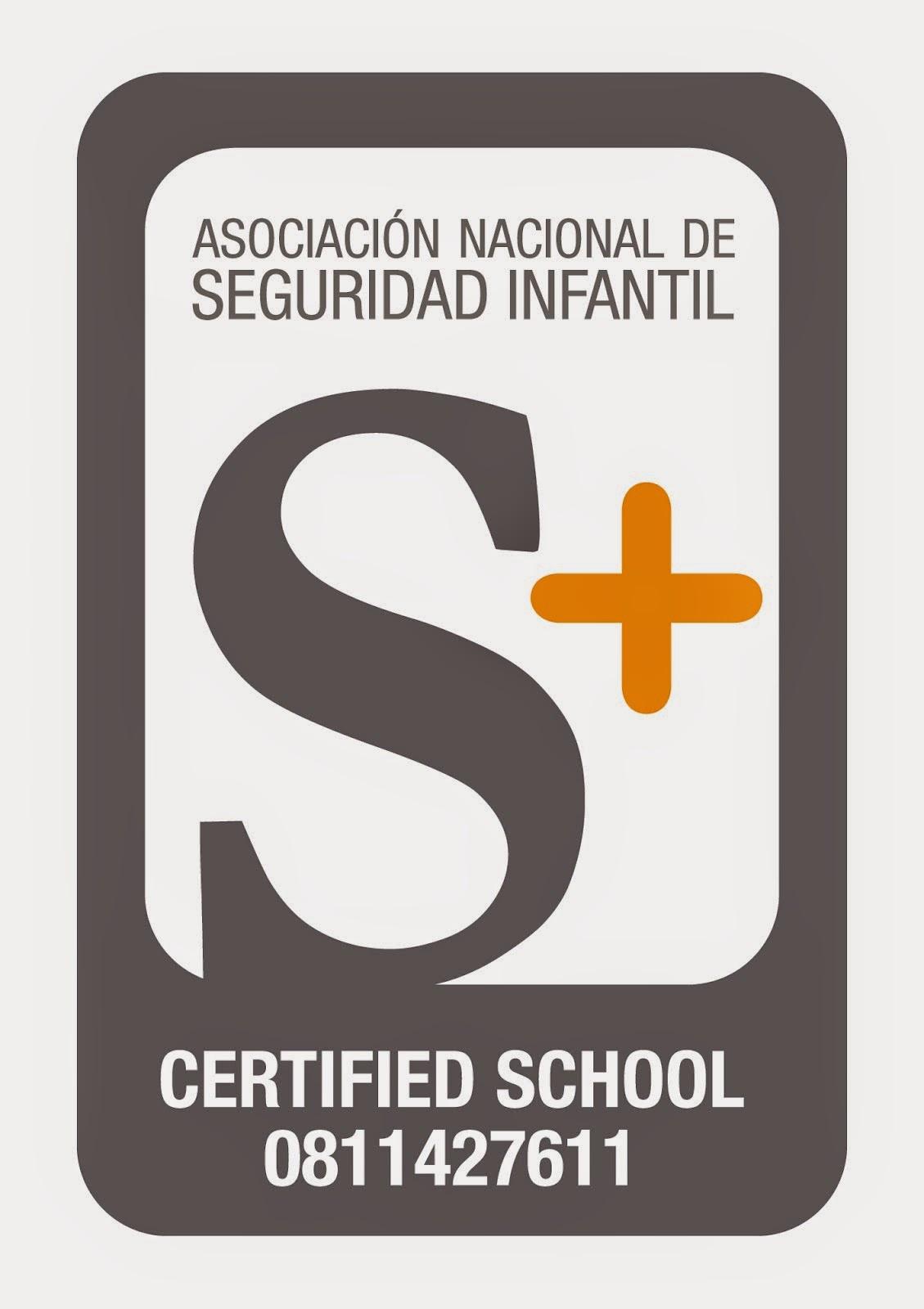 seguridad escolar certificado S+