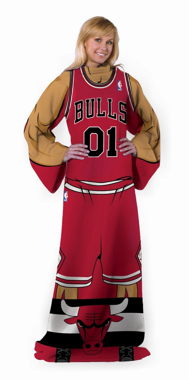 Chicago Bulls NBA Throw with Sleeves