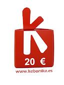 Kebonika premia tus donaciones con el sorteo trimestral de un vale de 20 euros!