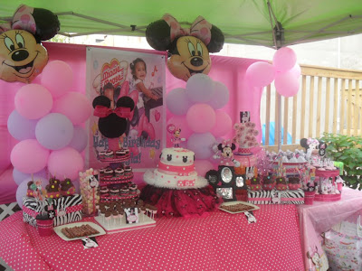 Reginas Party Events Kaylas 1st Birthday Minnie Mouse Party Theme