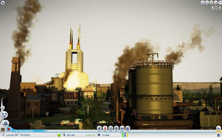 Новые производственные мощности в SimCity