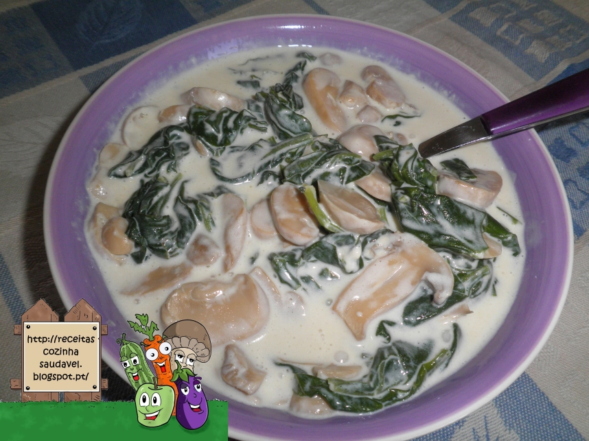 Espinafres com Cogumelos