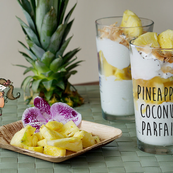 Hawaiian Pineapple Coconut Parfait