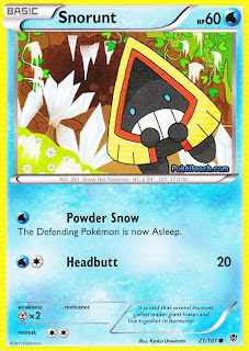 Snorunt Plasma Blast Pokemon Card