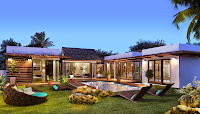 projet immobilier res ile maurice palm grove vue piscine