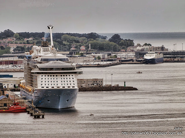 anthem of the seas, fotos de barcos, imagenes de barcos, royal caribbean, vigo, cruceros