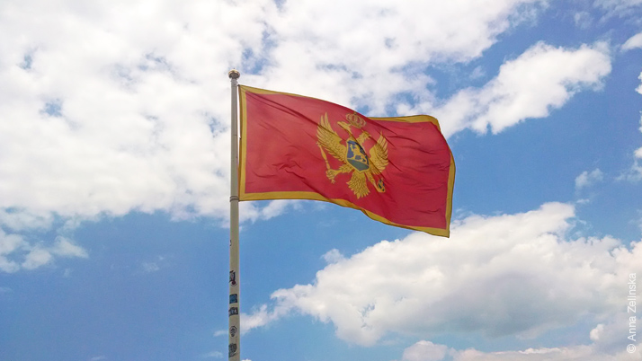 Флаг на крепости Святого Иоанна, Черногория