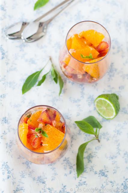 salade d'oranges parfumée Les Cocottes Moelleuses