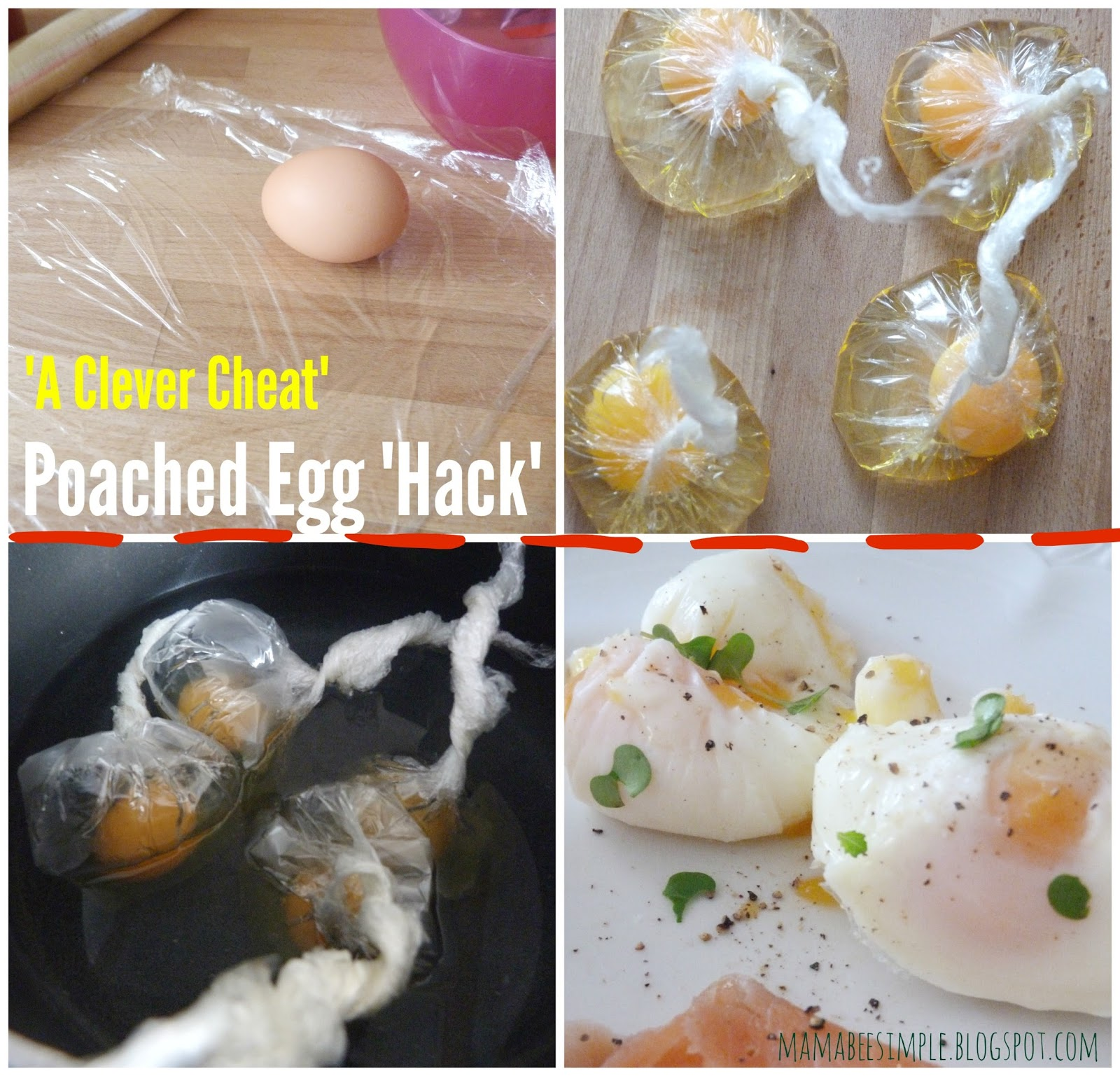 Poached egg jamie oliver cling film