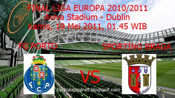 Prediksi Skor Pertandingan FC Porto vs Sporting Braga (Final Liga Europa 2010/2011)