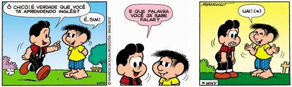 tirinha Cascão Maurício de Souza