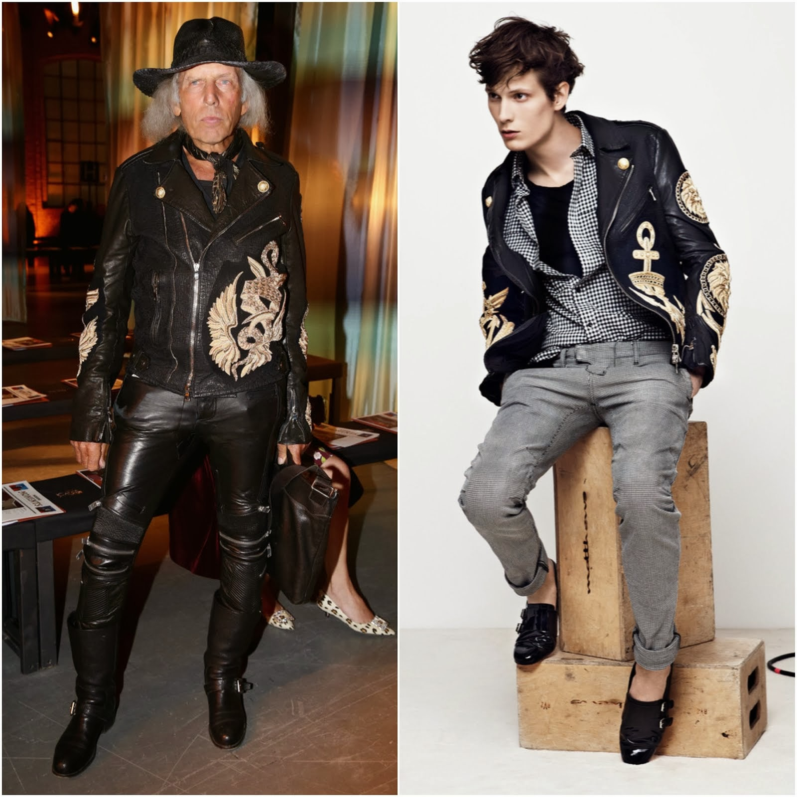 James Goldstein in Balmain - Milan Fashion Week FW14