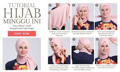 Gambar Tutorial Cara Memakai Hijab untuk Remaja