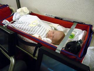 Freddie in his sky cot