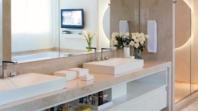 Banheiros Decorados branco