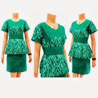 DB3120 Mode Baju Dress Batik Modern Terbaru 2013