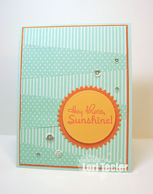 Hey There, Sunshine card-designed by Lori Tecler/Inking Aloud-stamps from Verve Stamps