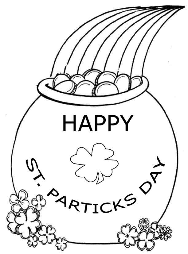 Clever image within printable st patrick day coloring pages