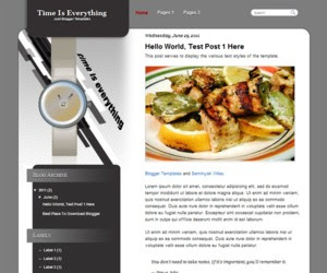 Time Is Everything Blogger Template