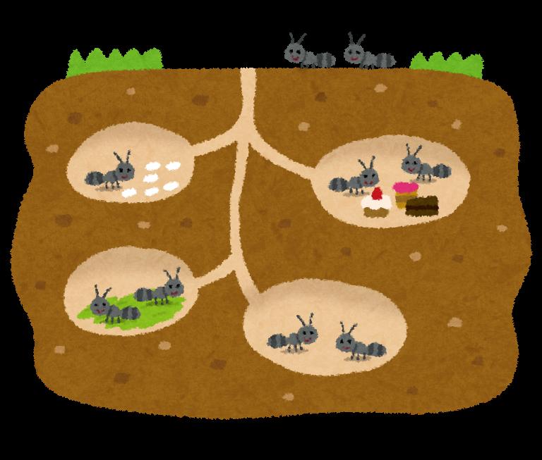 すべての講義 おもちゃのお金 : 蟻の巣のイラスト | かわいい ...