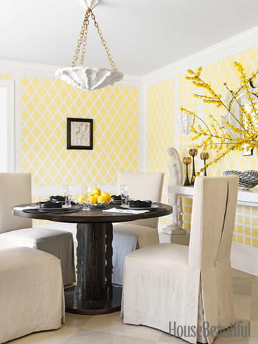 Yellow Dining Room Seating