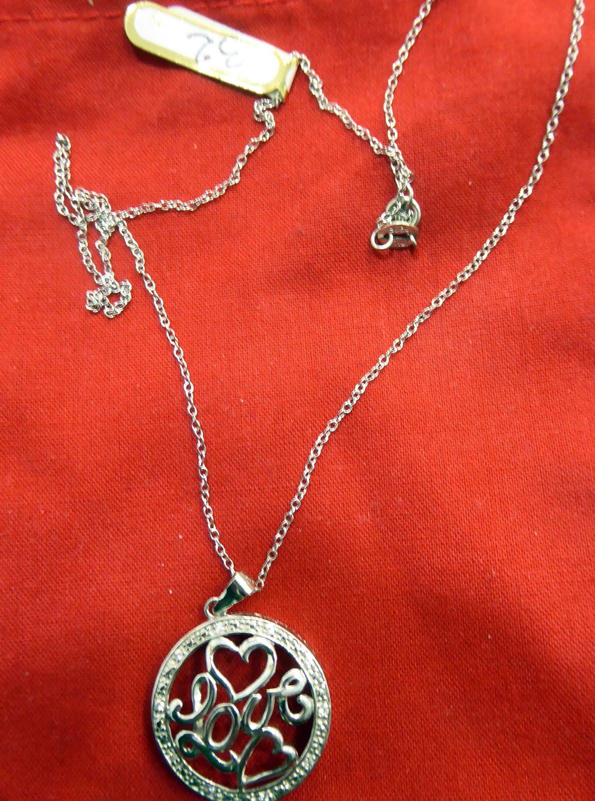 Gargantilla Love, plata y circonitas