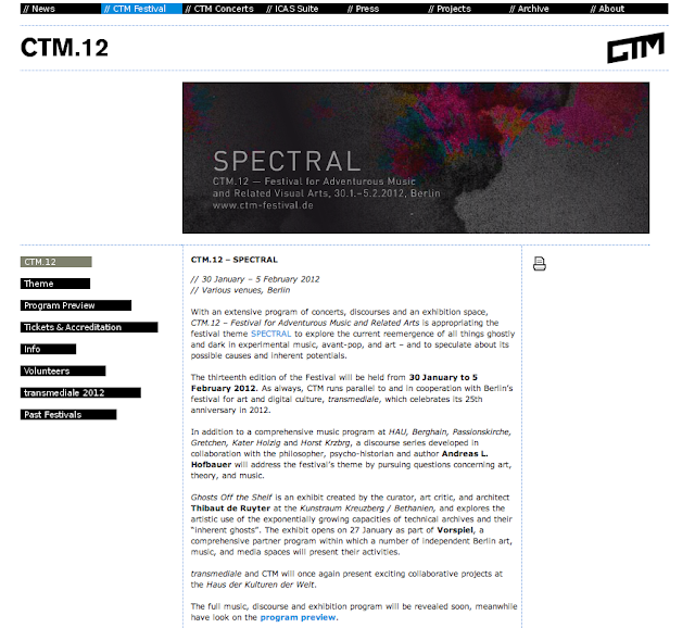 SPECTRAL - CTM Festival 2012
