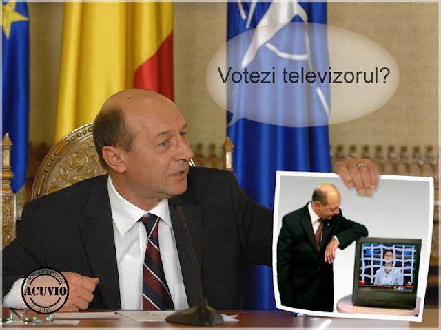 Comunicat DNA –  Traian Băsescu funny – Votezi televizorul
