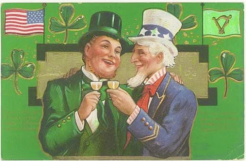 vintage st patrick with uncle same card