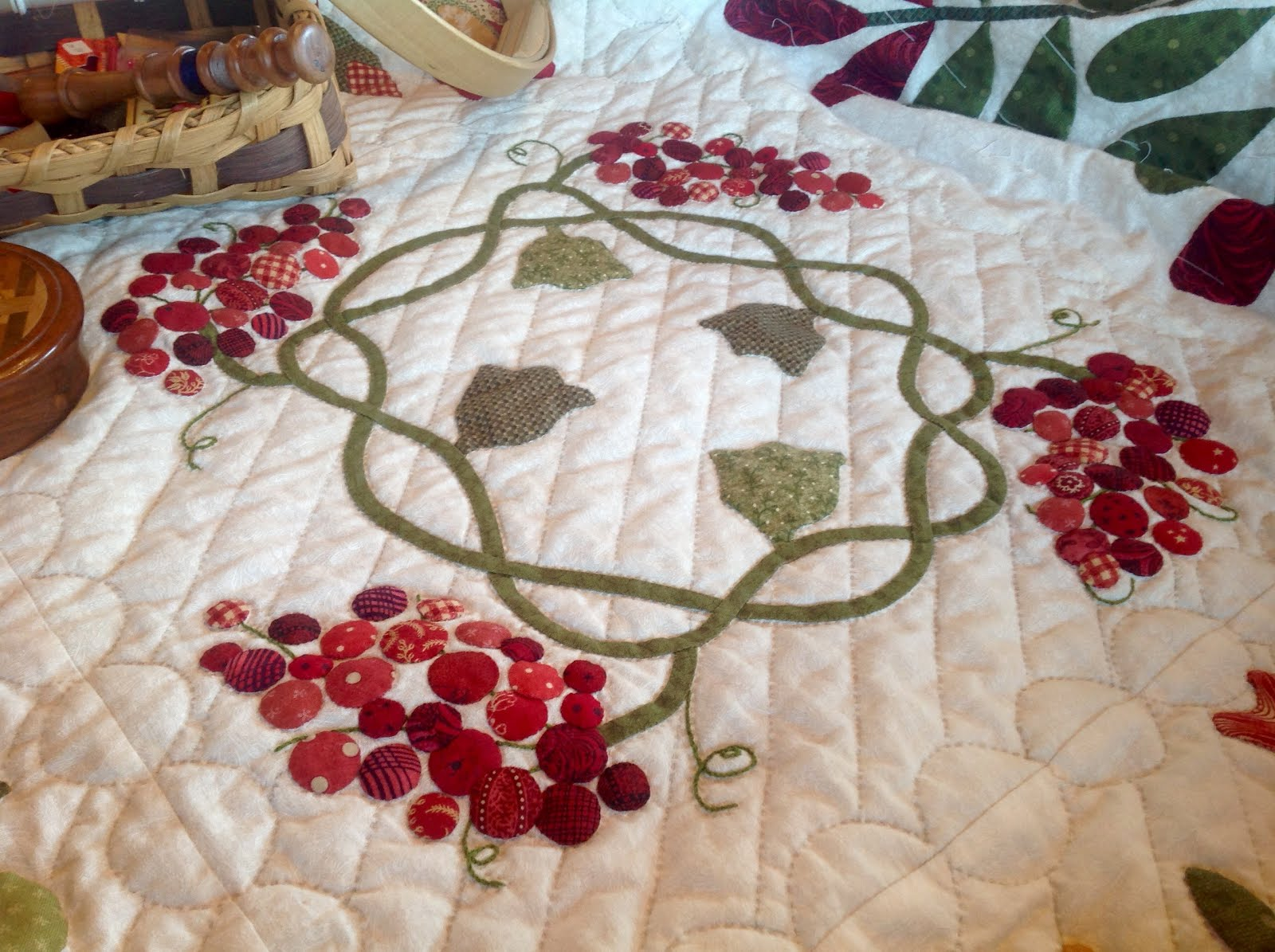 Cherry Tree quilt progress