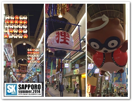 Sapporo Japan - Different themes in different sections of Tanukikoji