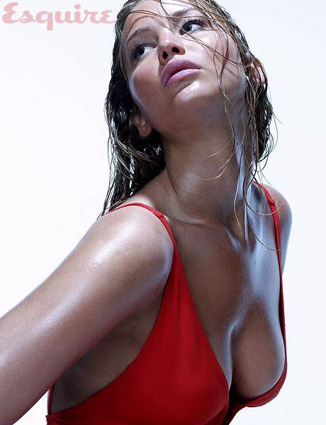 Jennifer Lawrence sexy in red bikini