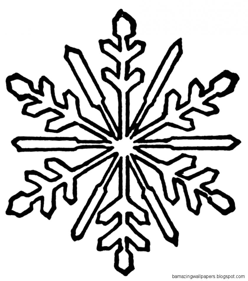 Snowflake Clipart Black And White  Clipart Panda   Free Clipart