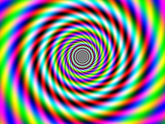 Gambar ilusi mata 2 – Pusatkan mata anda pada tengah2 lingkaran ini
