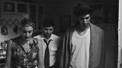 Greta Gerwig, Michael Zegen, and Adam Driver in Frances Ha