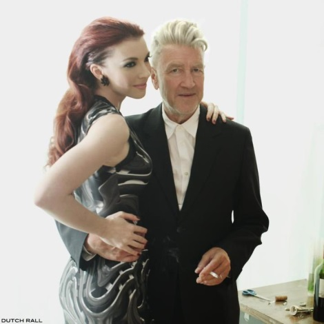 Singer Chrysta Bell wearing Vin and Omi with David Lynch