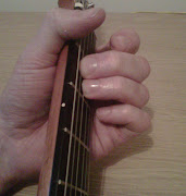 Here's the fingering for the Em guitar chord, it's typically played with .
