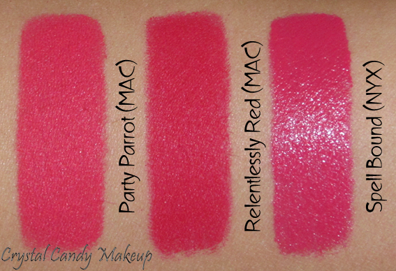 Relentlessly Red de MAC - NYX Spellbound - MAC Party Parrot