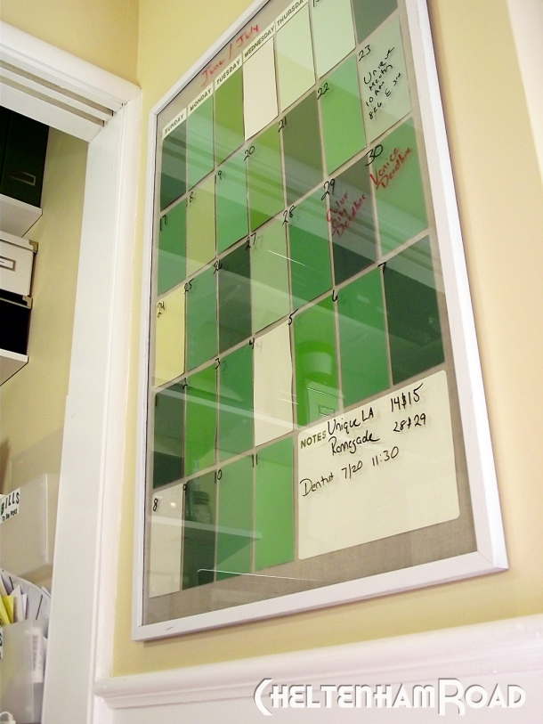 Diy Calendar Paint Chips : More than to my life as quot mom diy paint chip wall