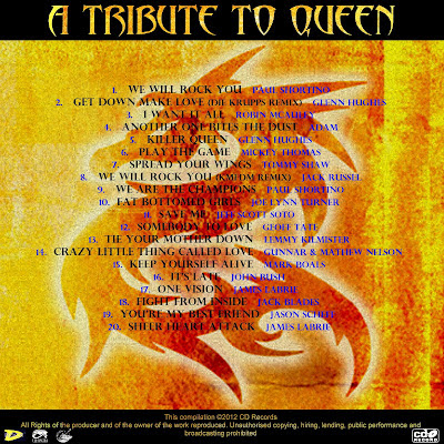 A Tribute to Queen - Contraportada