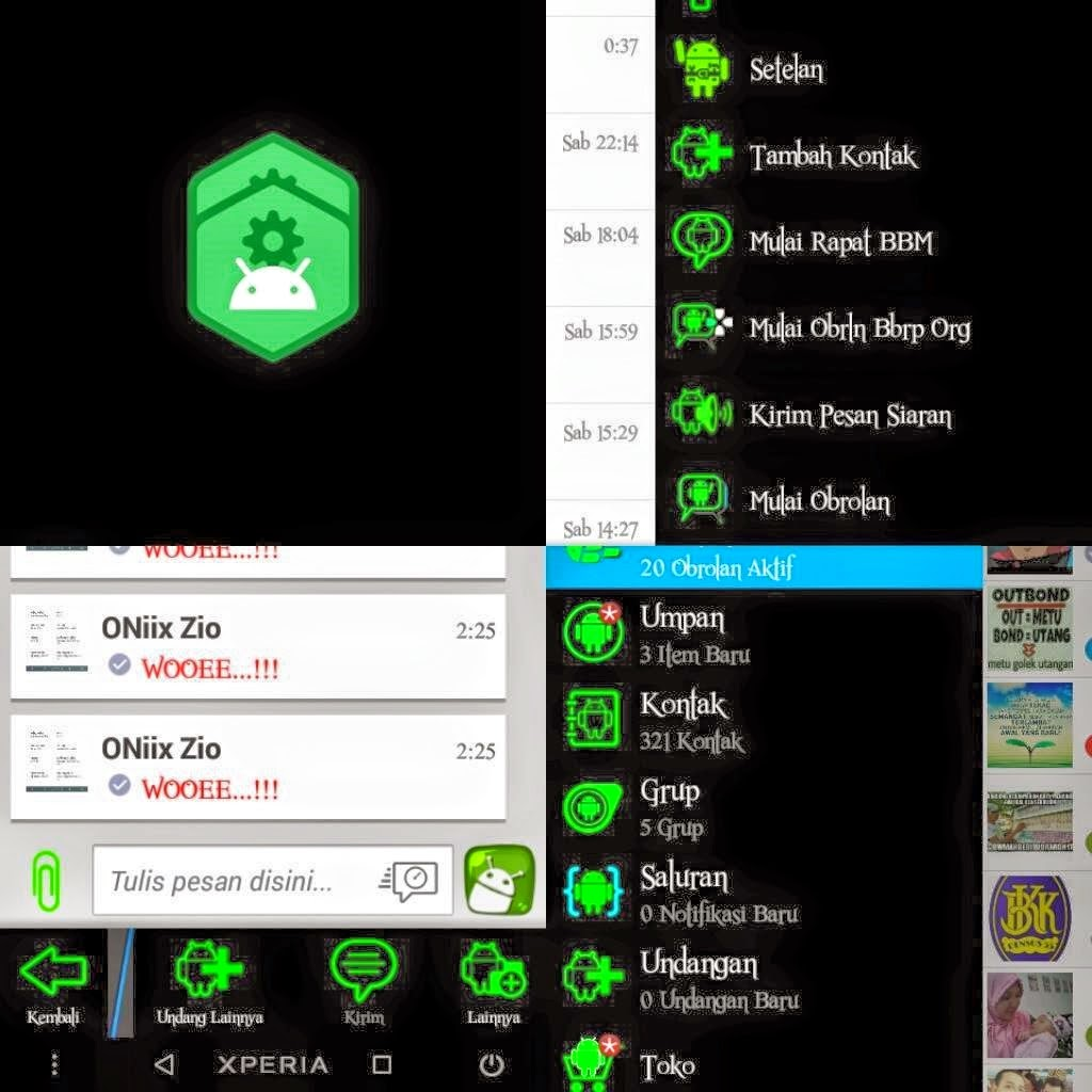 BBM MOD Green Light 2.8.0.21 APK tanggasurga.blogspot.com